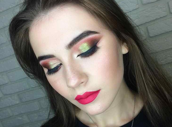 макияж для рыжих с карими глазами