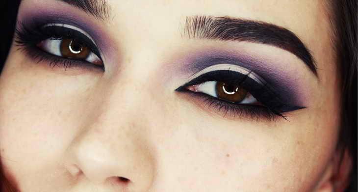 макияж для шатенок с карими глазами