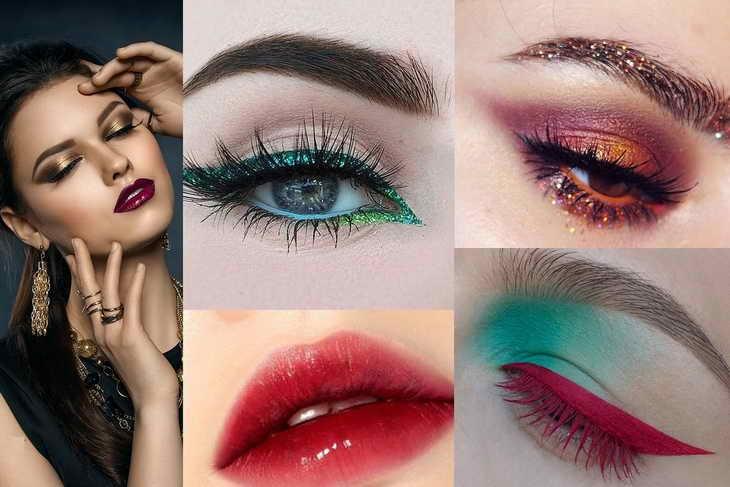 макияж для темно карих глаз праздничный