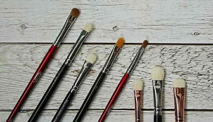 макияж для нависшего века кисти для нанесения теней