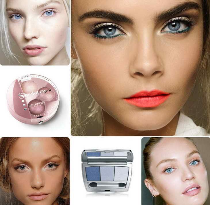 макияж для серо голубых глаз