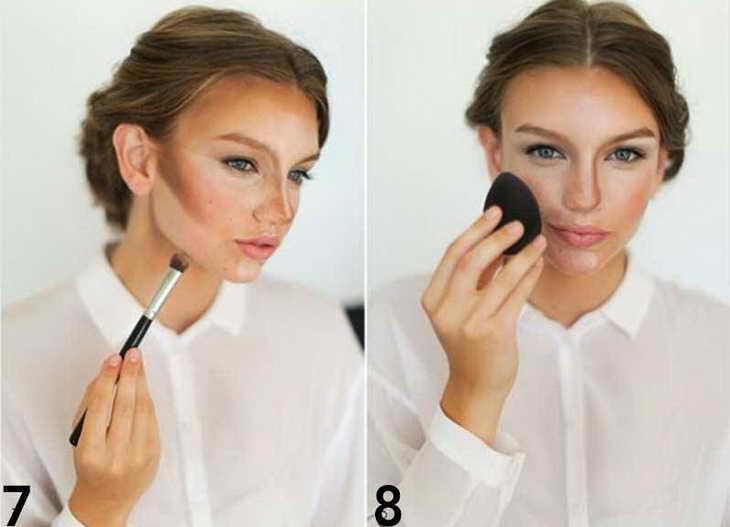 свадебный макияж для серо голубых глаз фото