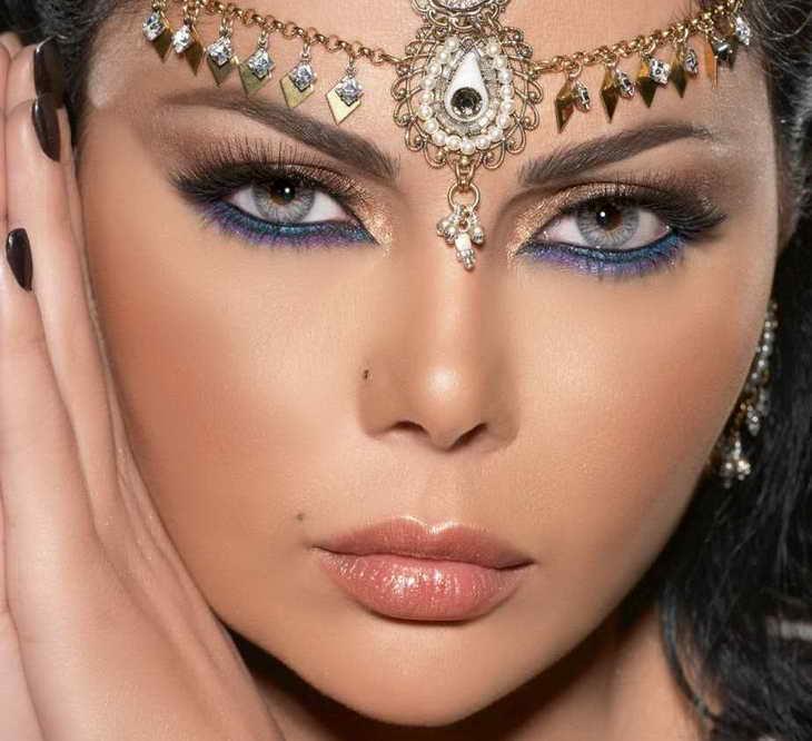 макияж для серо голубых глаз восточный