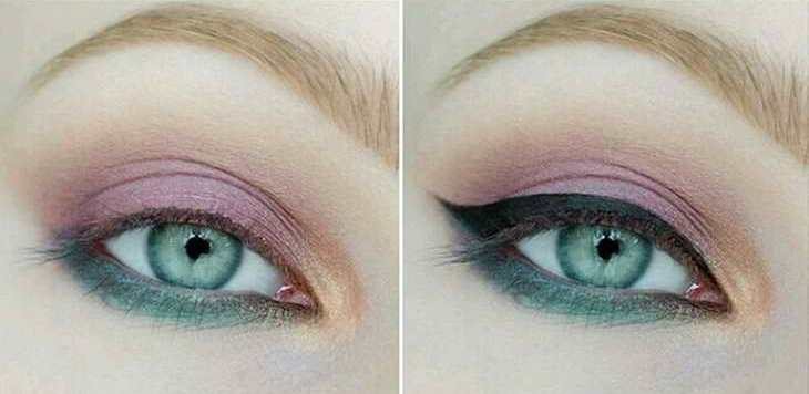 макияж для рыжеволосых с серо зелеными глазами вечерний