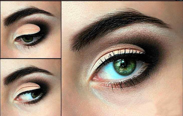 красивый макияж для серо зеленых глаз на свадьбу