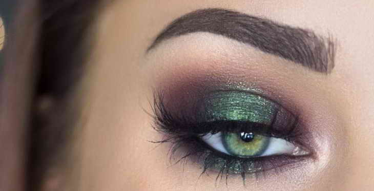 макияж для зеленых глаз смоки айс