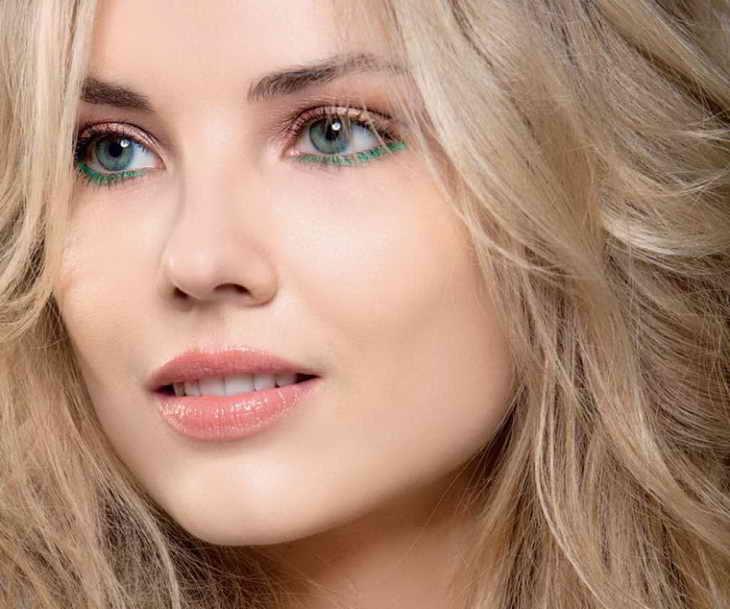 вечерний макияж для зеленых глаз фото блондинка