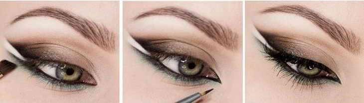 красивый макияж для зеленых глаз пошагово
