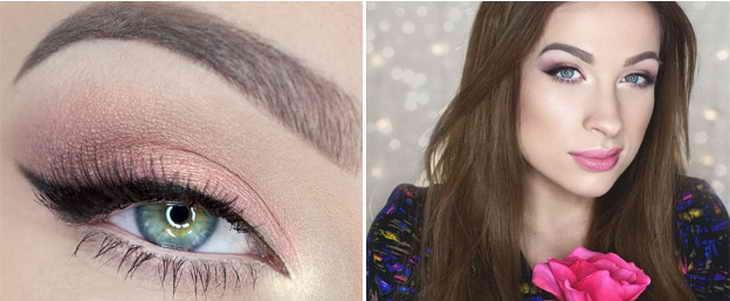 макияж для зеленых глаз и русых девушек