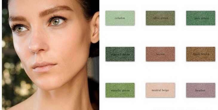 макияж для зеленых глаз цвета