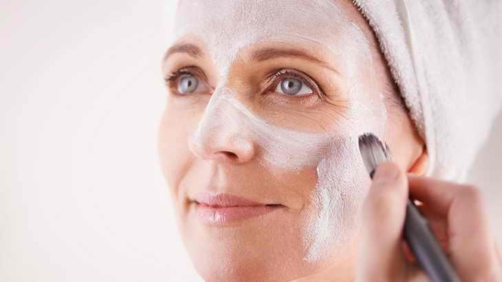 маска для лица из крахмала как наносить