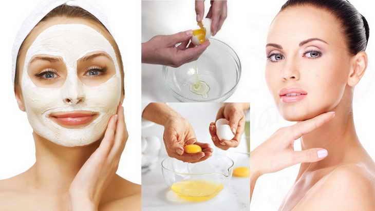 маска для лица из яйца результат