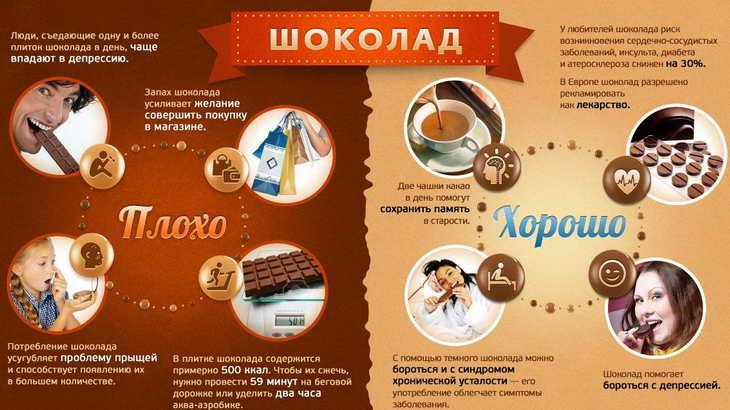 шоколадная диета польза