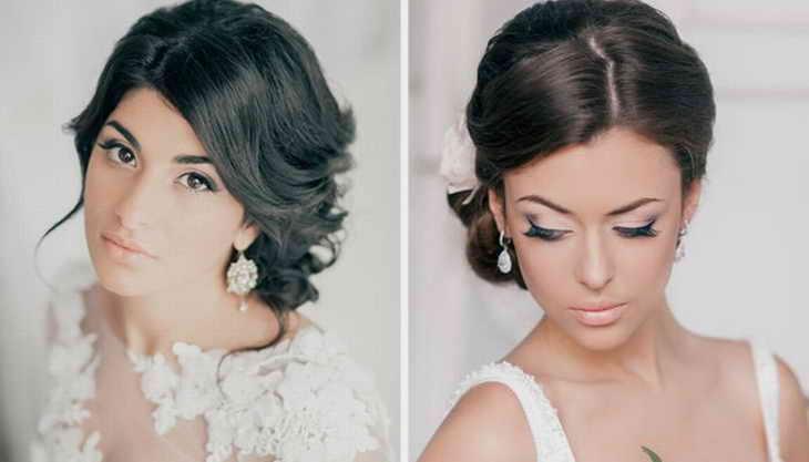 свадебный макияж брюнетка