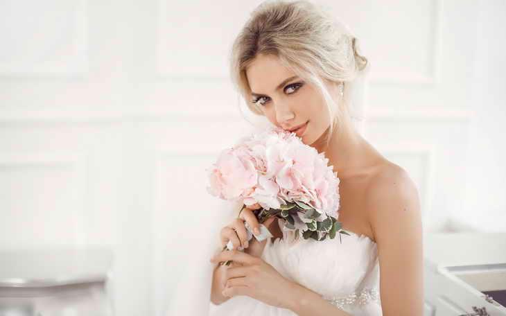 свадебный макияж блондинка