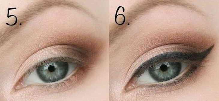 классический свадебный макияж для серых глаз