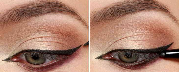 свадебный макияж со стрелками для зеленых глаз