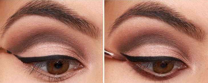свадебный макияж карие глаза