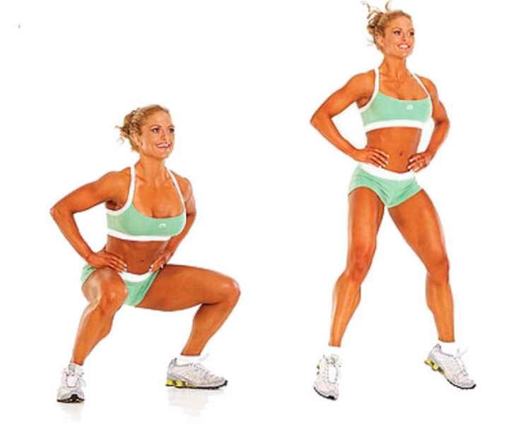 упражнения для похудения ног приседания