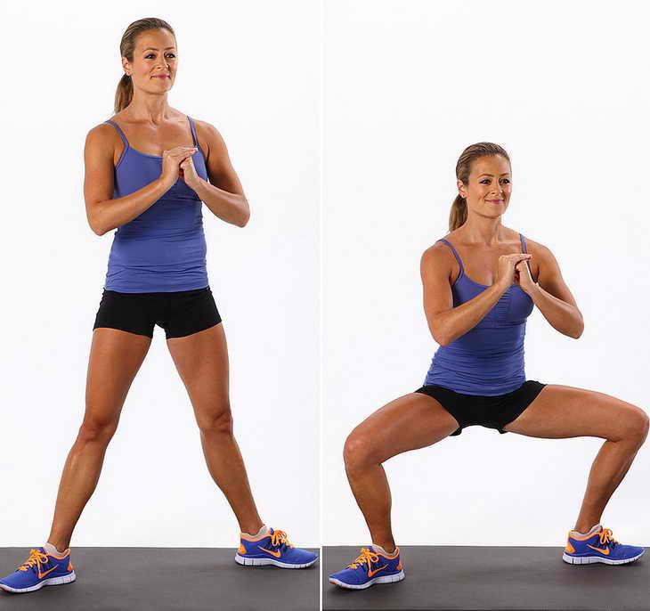 зарядка для похудения ноги