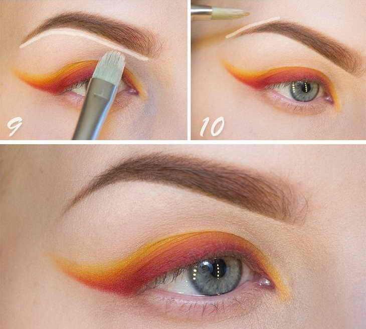 как красить брови карандашом как правильно