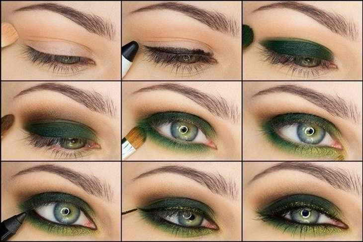 дневной макияж для голубых глаз пошаговое фото