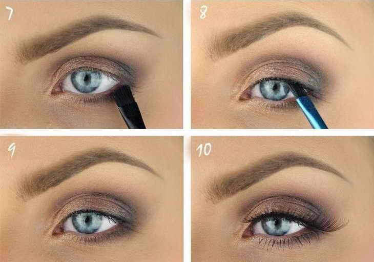 макияж для голубых глаз шаг 3
