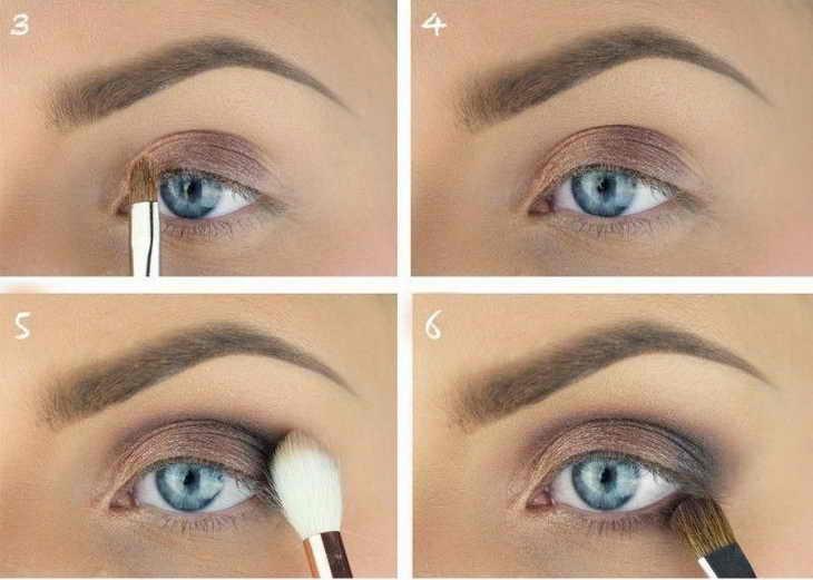 макияж для голубых глаз шаг 1
