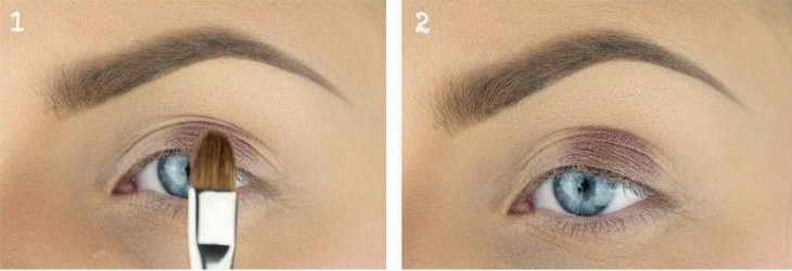макияж для голубых глаз празничный
