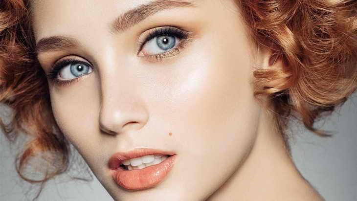 макияж на каждый день для голубых глаз