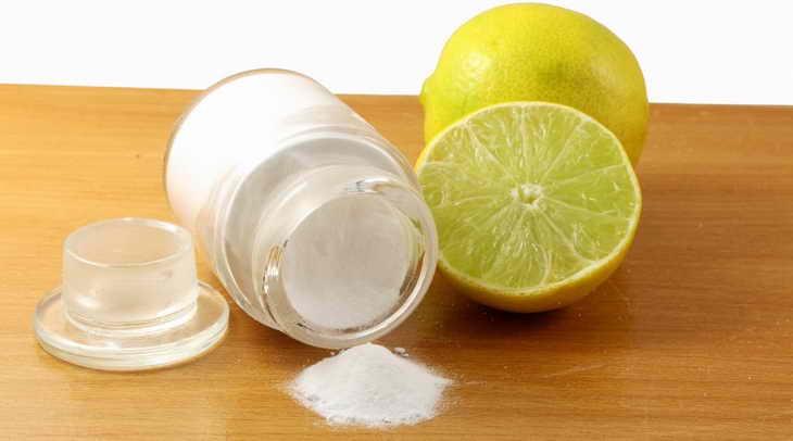 маска из соды для лица с лимоном
