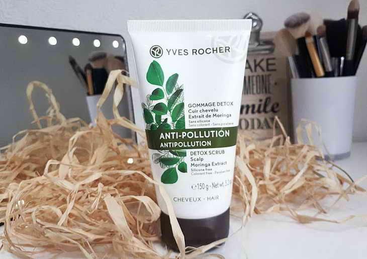 Скраб Yves Rocher Anti-Polution с экстрактом моринги