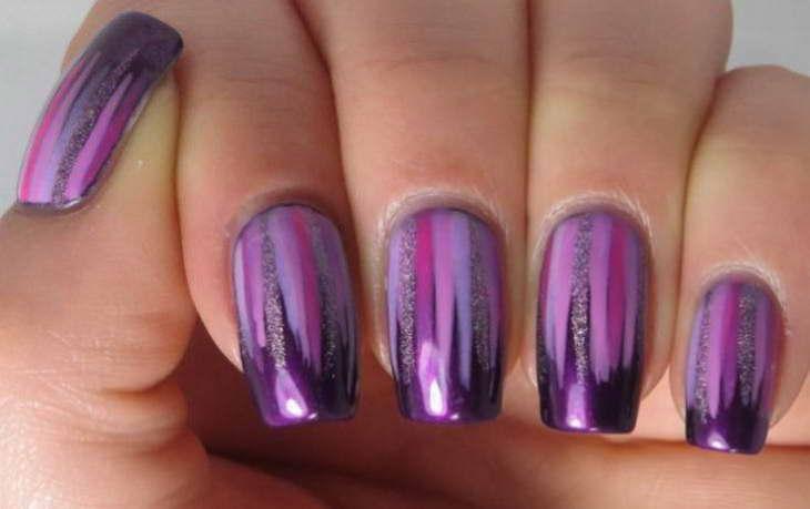маникюр фиолетовых оттенков