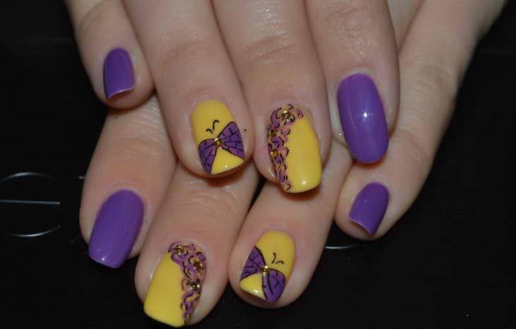 Фиолетовый маникюр: тенденции и модные идеи дизайна ногтей с фото ...