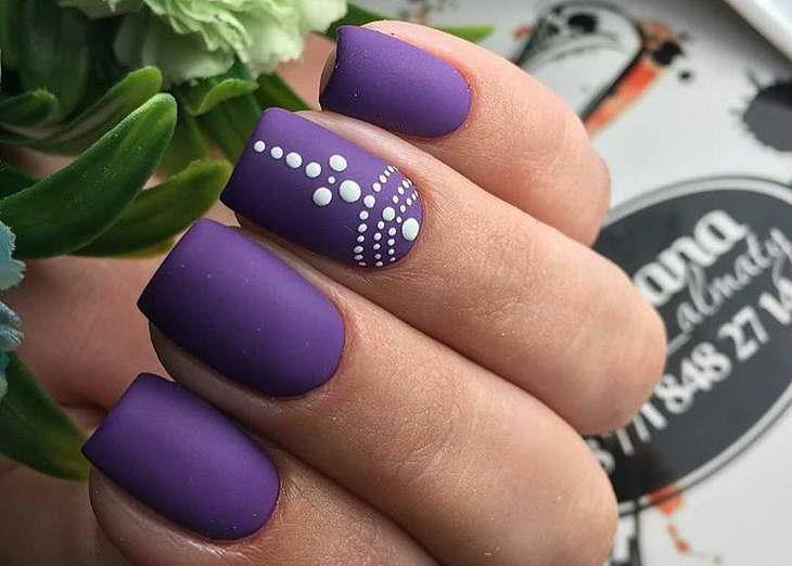фиолетовый маникюр как делать самой