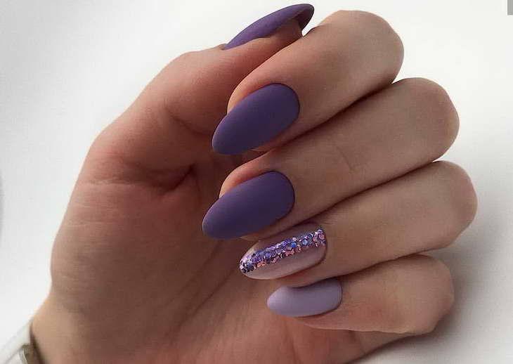 фиолетовый маникюр как делать