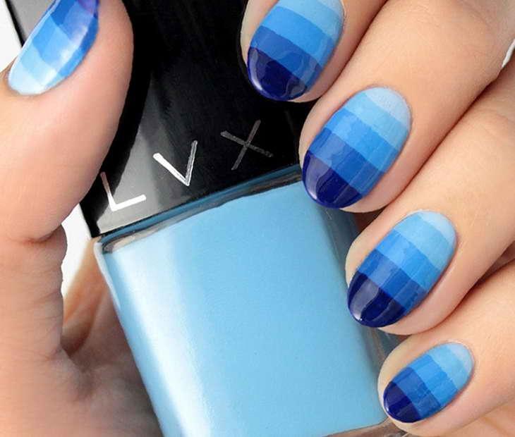 маникюр голубого цвета фото