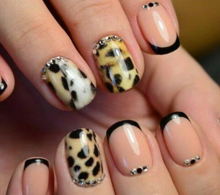 леопардовый маникюр как сделать