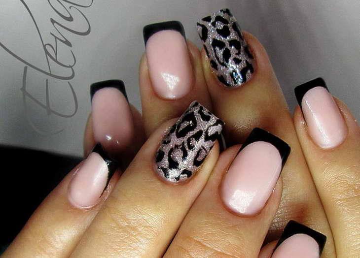 леопардовый маникюр на одном пальце