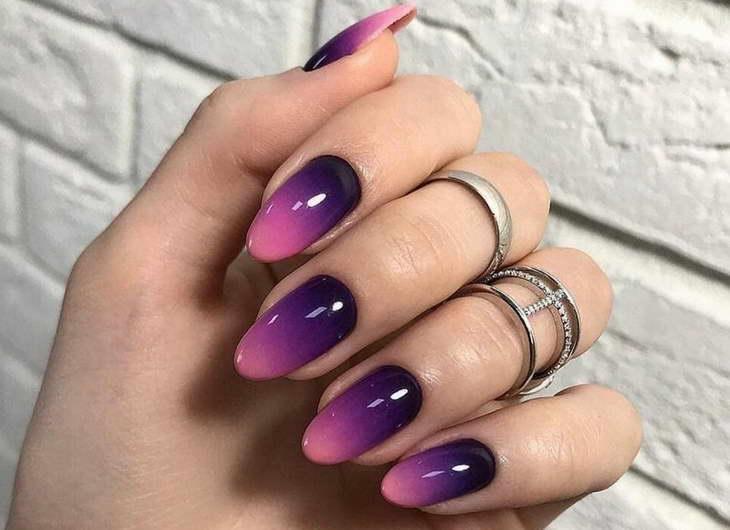 омбре на ногтях гель лаком