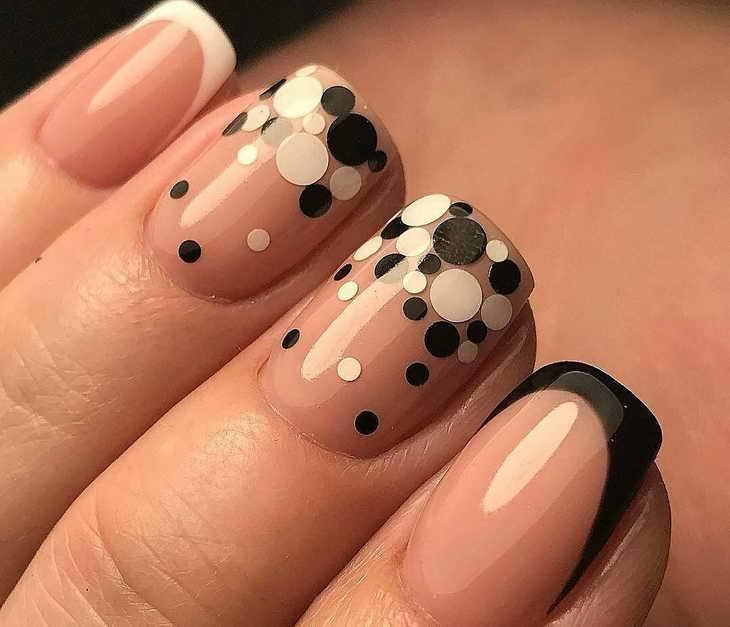 маникюр с камифубиками на короткие ногти