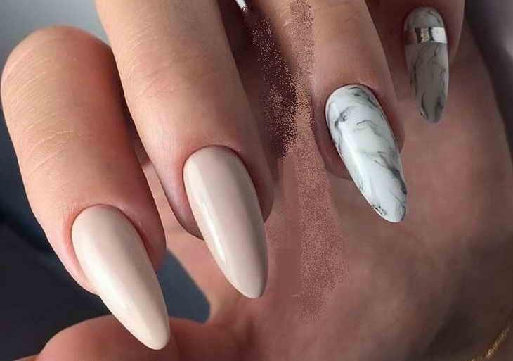маникюр в пастельных тонах на длинные ногти