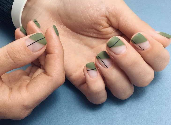 зеленый маникюр в домашних условиях